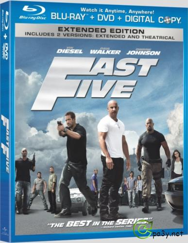 Форсаж 5 / Fast Five (2011) BDRip 1080p