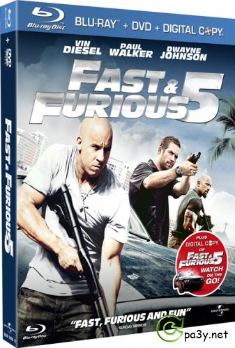 Форсаж 5 / Fast Five (2011) Blu-ray disc 1080p