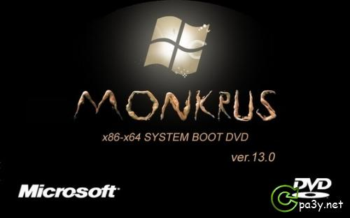 m0nkrus x86-x64 System Boot DVD 13.0 (Windows от 98 до 2011)